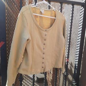 J jill Button front Shirt blouse yop